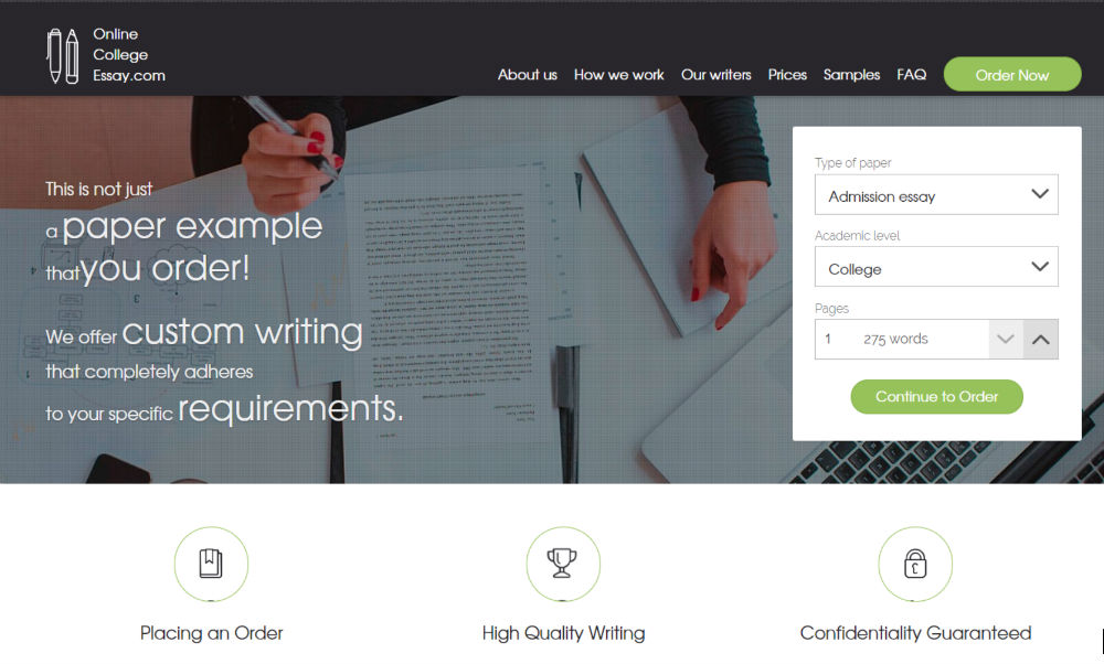 Online English essay writing service